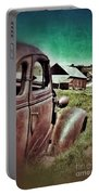 Old Car And Ghost Town Portable Battery Charger