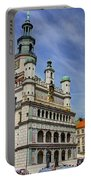 Old City Hall Clock Tower - Posnan Poland Portable Battery Charger