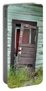 Old Door On Rustic Alaska Cabin Portable Battery Charger