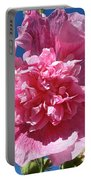 Old Fashioned Hollyhock Portable Battery Charger