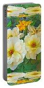 Old Fashioned Yellow Rose - Mirror Box Portable Battery Charger