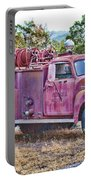 Old Firetruck Portable Battery Charger