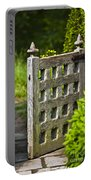 Old Garden Entrance Portable Battery Charger by Heiko Koehrer-Wagner