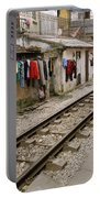 Old Hanoi By The Tracks Portable Battery Charger