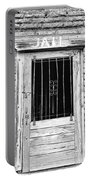 Old Jailhouse Door In Black And White Portable Battery Charger