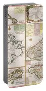 Old Map Of English Colonies In The Caribbean Portable Battery Charger