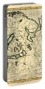 Old Map Of Northern Europe Portable Battery Charger