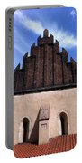 Old New Synagogue Portable Battery Charger by Linda Woods