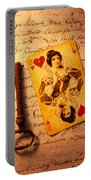 Old Playing Card And Key Portable Battery Charger by Garry Gay