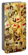 Old Playing Cards Portable Battery Charger by Garry Gay