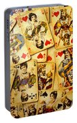 Old Playing Cards Portable Battery Charger