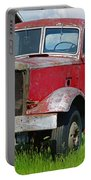 Old Rusted Semi-truck  Portable Battery Charger