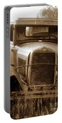 Old Rustic Ford-sepia Portable Battery Charger