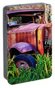 Old Rusting Truck Portable Battery Charger