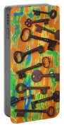 Old Rusty Keys Portable Battery Charger