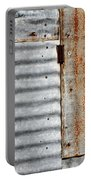 Old Rusty Sheet Metal Portable Battery Charger
