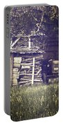 Old Shed Portable Battery Charger by Joana Kruse