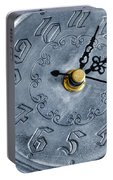 Old Silver Clock Portable Battery Charger