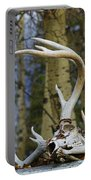 Old Skull And Antlers Portable Battery Charger