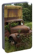 Old Truck In Rain Forest  Portable Battery Charger