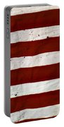 Old Usa Flag Portable Battery Charger by Carlos Caetano