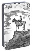 Old-west-art-cowboy Portable Battery Charger