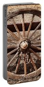 Old West Wheel Portable Battery Charger by Kelley King