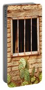 Old Western Jailhouse Window Portable Battery Charger