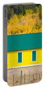 Old Yellow School House With Autumn Colors Portable Battery Charger
