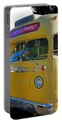 Old Yellow Transit Bus Abstract Portable Battery Charger
