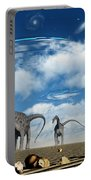 Omeisaurus Dinosaurs Are Startled Portable Battery Charger