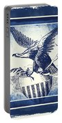 On Eagles Wings Blue Portable Battery Charger