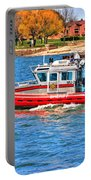 On Patrol At The Erie Basin Marina  Portable Battery Charger