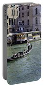 On The Canal In Venice Portable Battery Charger