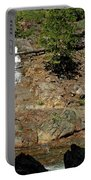 On The Rocks Glen Alpine Creek And Falls Portable Battery Charger