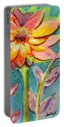 One Pink Flower Portable Battery Charger