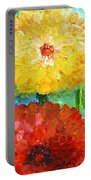 One Yellow One Red And Orange Flower Shines Portable Battery Charger