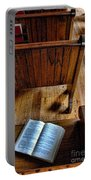 Open Book On Church Pew Portable Battery Charger