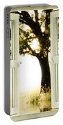 Open Window To Tree Portable Battery Charger