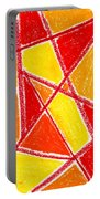 Orange Abstract Portable Battery Charger