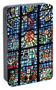 Orange Blue Stained Glass Window Portable Battery Charger