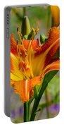 Orange Day Lily Portable Battery Charger