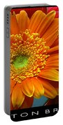 Orange Floral Portable Battery Charger