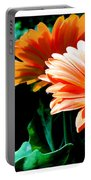 Orange Gerber Daisies Portable Battery Charger