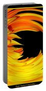 Orange Gerbera Daisy Warp Portable Battery Charger