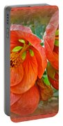 Orange Hibiscus Flowers Portable Battery Charger