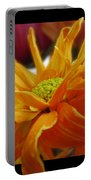 Orange Juice Daisy Portable Battery Charger
