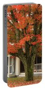 Orange Leaves And Pumpkins Portable Battery Charger