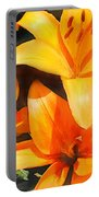 Orange Lilies Portable Battery Charger