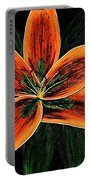 Orange Oriental Lily Portable Battery Charger